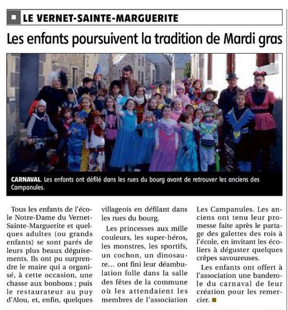 Article La montagne 2019.03.08 carnaval