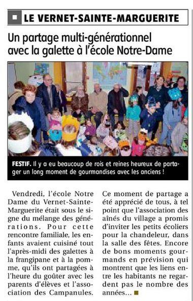 article La Montagne du 15.01.2019